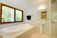 All our guestrooms have ensuite bathrooms - one features a lush double spa
