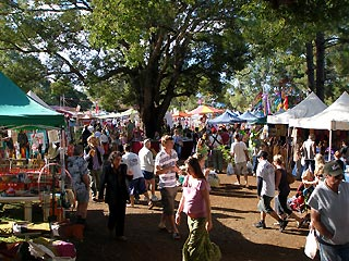 Bangalow markets always attract a crowd