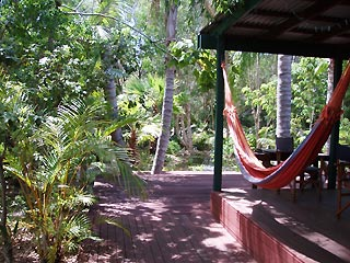 Chill out in the shady hammock