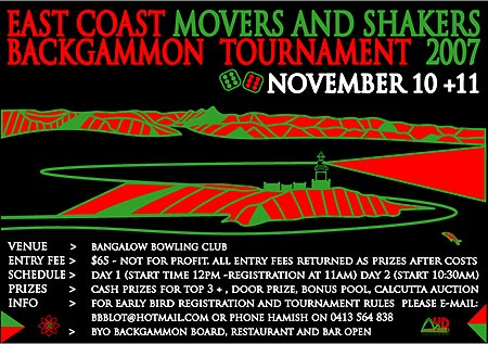 Movers & Shakers Backgammon Tournament
